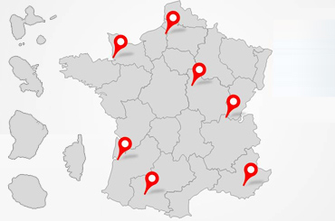 Carte de France des formations